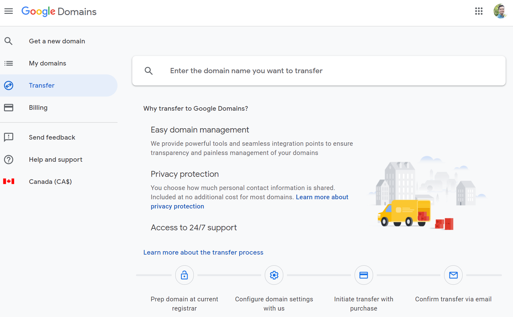 Google Domains Transfer